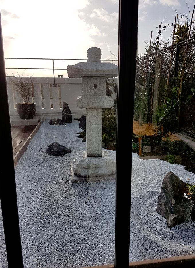 Dedans dehors jardin japonais