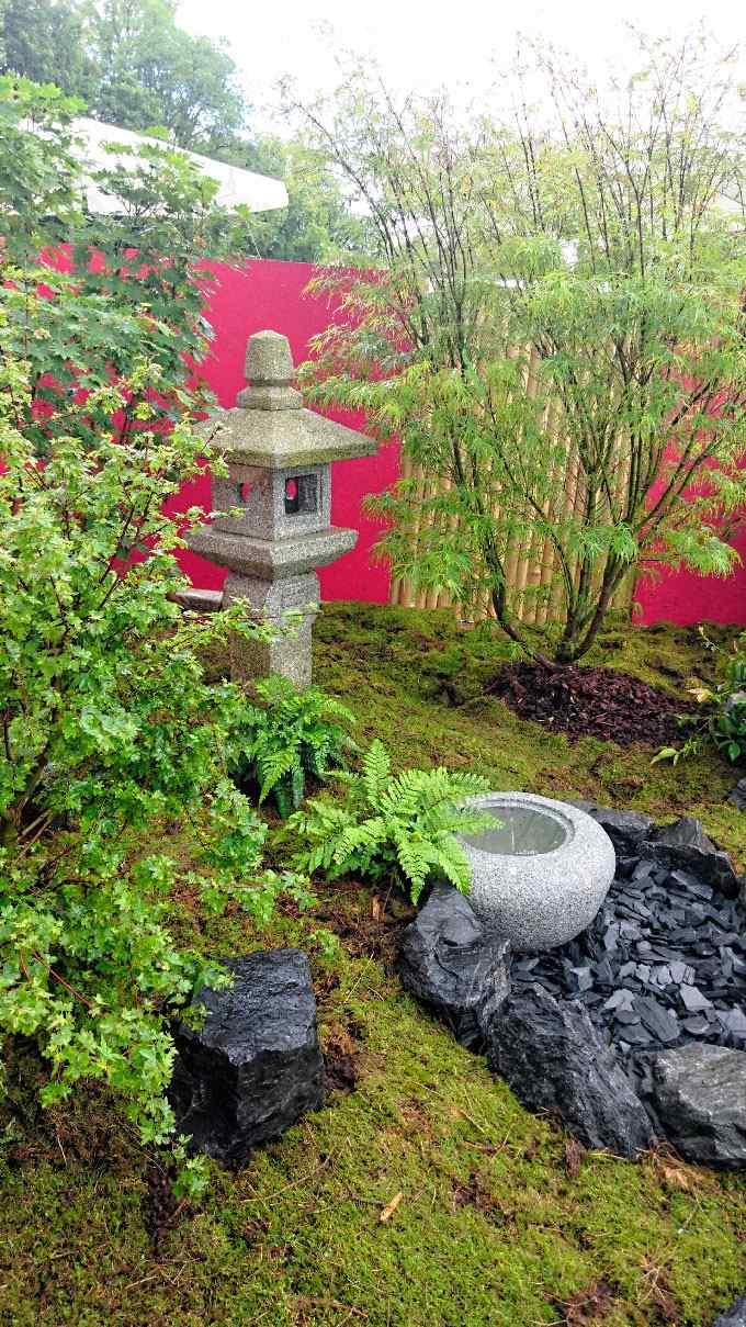 jardin japonais jardin de thé lanterne oribe bassin fontaine erable cerisiser