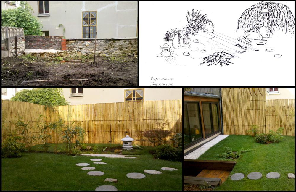 Conception et realisation d un jardin japonais de 20m for Conception jardin japonais
