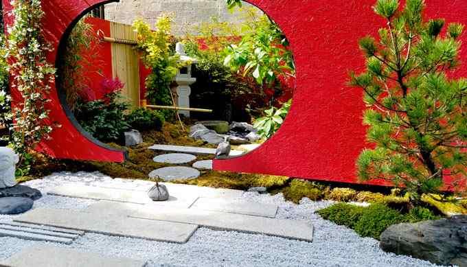 Cha-niwa : Jardin de thé. Jardin conçu  pour la cérémonie du thé