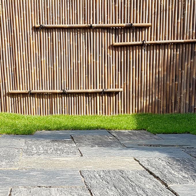 Jardin japonais:Terrasse paillis d'ardoise