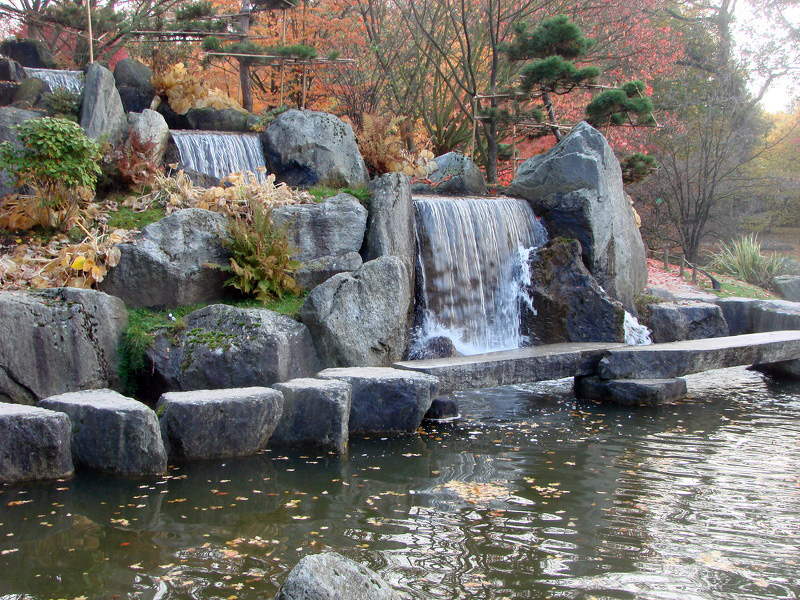 cascade japonaise photos de jardin japonais. Black Bedroom Furniture Sets. Home Design Ideas